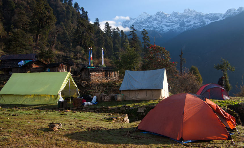 India Kanchendzonga Adventure Beauty In Nature Camping Cold Temperature Himalaya Landscape Mountain Mountain Range Nature Outdoors Scenics Shelter Sikkim Tranquil Scene Tranquility