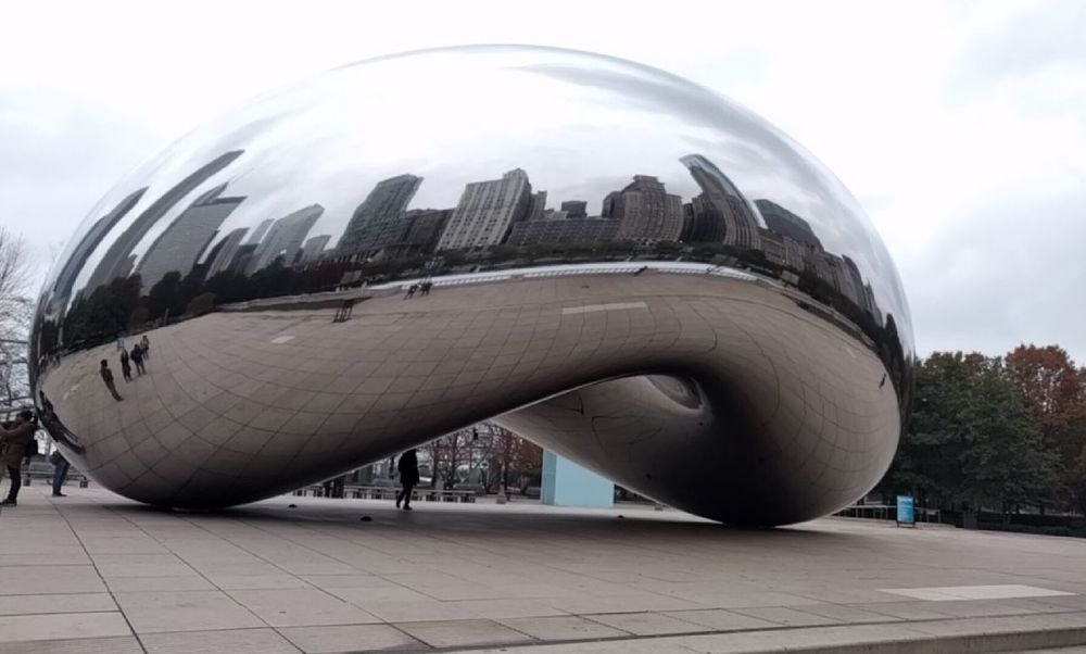 Architecture Reflection Built Structure Building Exterior Outdoors Day Chicago Bean The Bean Skyline Modern Sky City Futuristic Close-up