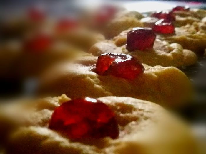 Short Bread Red Glazed Cherries Melts In Your Mouth