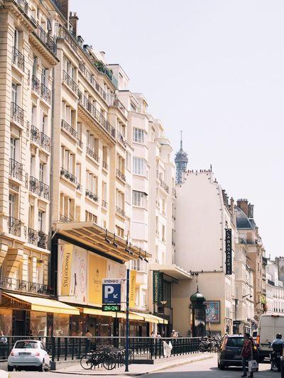 Buildings along city street