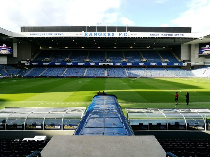 Ibrox Rangers Rangers Football Club Stadium Architecture Low Angle View Outdoors Gers Rfc Football Soccer Pitch