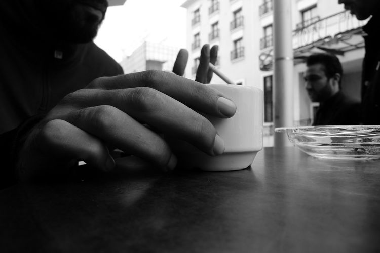 Leica Dlux4 Tunis Tunisia Black N White Human Hand Real People Coffee Close-up Cup Human Connection Capture Tomorrow