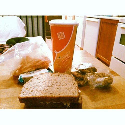 The one thing that saved this vacation from sucking is Orange Julius. I hiked up hill for 4 hours today and couldn't finish the hike because I felt like I was gonna die. A Strawberry Banana Orangejulius , turkey sandwich, rice krispie treat, chips ahoy cookies and sun chips to fill my empty, starving belly. Icantbelieveihikedthatmuch Ihateuphill Imaybeoutofshapebuticanhike MmmmGood ifelttheburnanditalmostkilledme