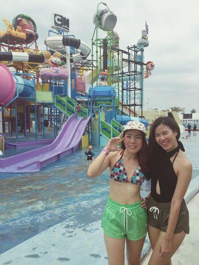 Summer time. ???? Water Slides Relaxing Sun Summer Swimming