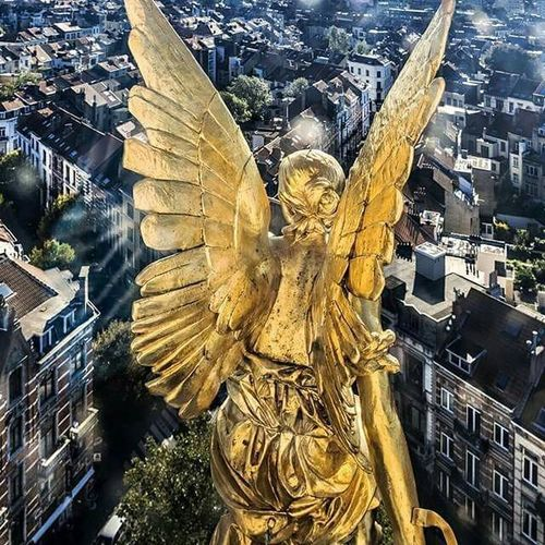 Brussels has angels to protect her Brussels Belgium Level4 Terrorisattack Picoftheday Pictureoftheday