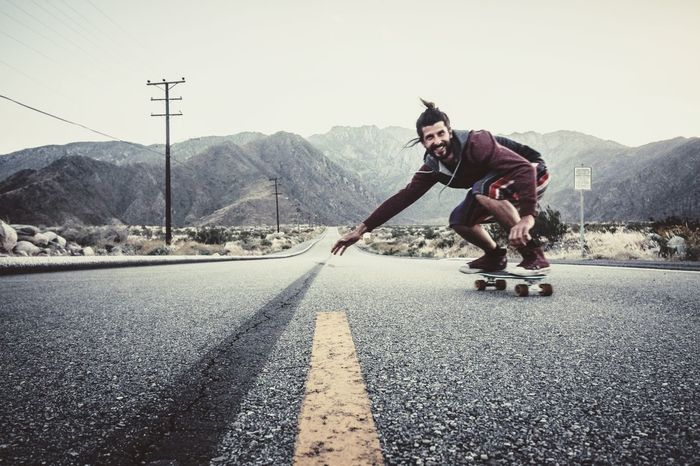 Lost In The Landscape Road Mountain Transportation Riding Skateboard One Person Full Length Casual Clothing Speed Outdoors Longboard Skating Adventure Men One Man Only Happy People Adult One Young Man Only Young Adult Only Men Extreme Sports Freedom Pennyboard Speeding Smiling EyeEmNewHere Second Acts Love Yourself California Dreamin Go Higher