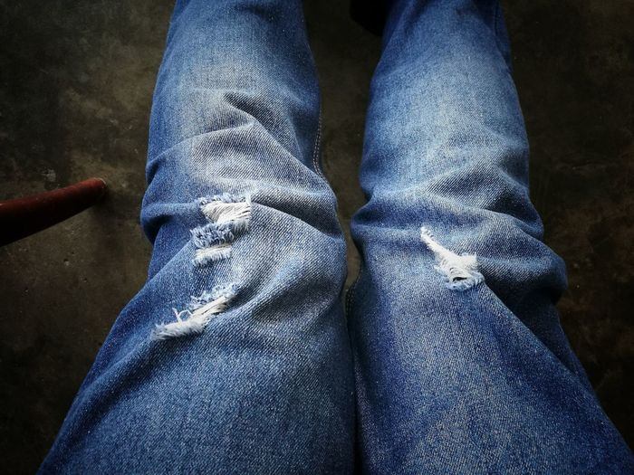 Jeans Jeans Texture Twolegs Art Lifestyles Indoors  Close-up One Person Adult Day Human Leg HuaweiP9Photography Sarawak Adults Only
