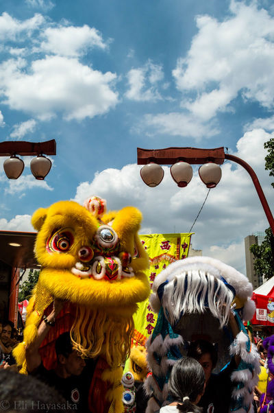 Chinese New Year Chinese Culture Lion Dance Light And Shadow Sampa Streetphotography Arts Culture And Entertainment Amusement Park Cloud - Sky Day No People Multi Colored Outdoors Sky
