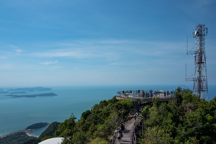 Langkawi Sky Water Sea Architecture Nature Built Structure Day Transportation Blue Building Exterior Cloud - Sky Scenics - Nature High Angle View Plant Mountain Beauty In Nature Outdoors Connection Tree Horizon Over Water No People