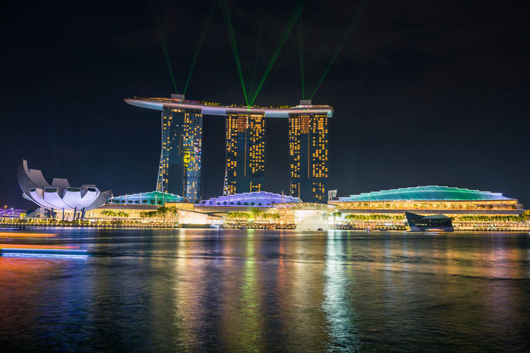 Marina colorful Marina Bay Sands Singapore Architecture Bay Building Building Exterior Built Structure Colorful Hotel Illuminated Long Exposure Luxury Luxury Hotel Nature Night Office Building Exterior Outdoors Reflection Sea Sky Skyscraper Travel Travel Destinations Water Waterfront