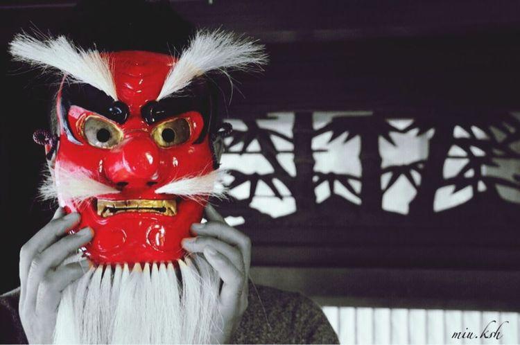 Japonism Color Splash Taking Photos Mask Asian Culture 外法様←天狗の別名:妖力を持ち魔道へ導く者