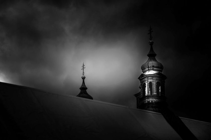 Prague III EyeEm Best Shots Black And White Mood Place of Heart EyeEmBestPics Contrast Prague Czech Republic Prague Church darkness and light EyeEm Selects No People Outdoors Politics And Government Statue War Sky Memorial Historic Tower Cathedral