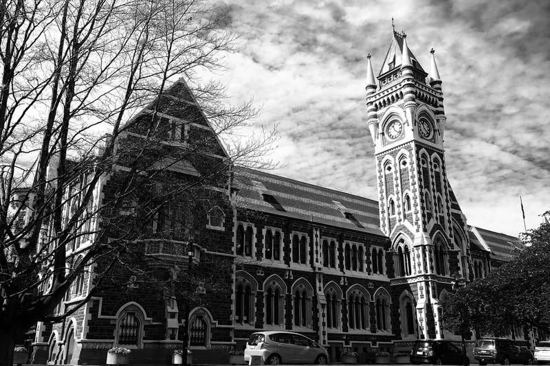 University of Otago,NZ Otago University Newzealand University Architecture Building Exterior Built Structure Low Angle View History No People