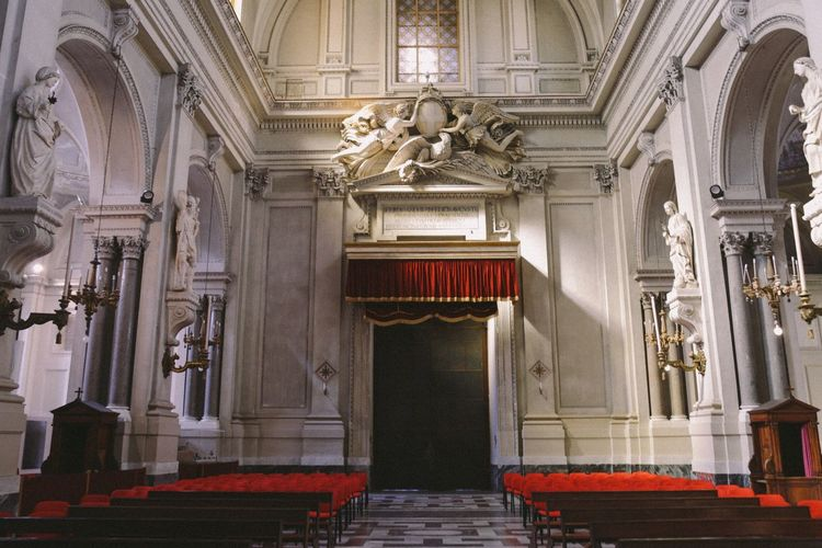 Architecture History Travel Destinations Arts Culture And Entertainment Sculpture Statue Architectural Column No People Indoors  Day Palermo Sicily Religion Cathedral