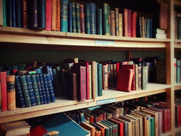 Vintage Old Books Colorful Old Books Bookshelf