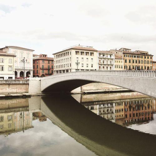Pisa Italia Italy🇮🇹 IPhone Iphonephotography IPhoneography Arno  Arno River Toscana Tuscany Bridge