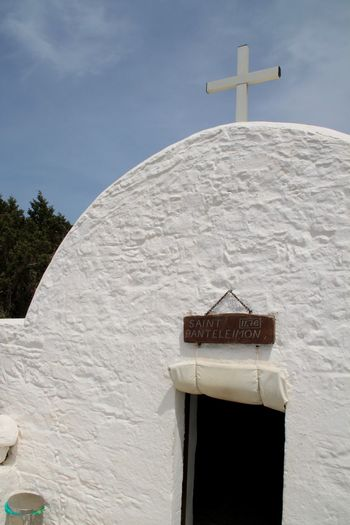 Architecture Building Exterior Built Structure Church Greece Monolithos No People Religion Spirituality White Color Whitewashed
