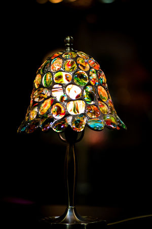 Bubbles Colors Art Black Background Bokeh Botany Close-up Colorful Day Handmade Indoors  Multi Colored No People Tiffany Lamp