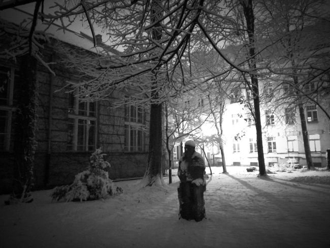 Warsaw Poland Snow Day Snow Snow Covered Statue Architecture Faculty Warszawa  Snowy Scene Winter Wintertime It's Cold Outside Snowblind Zerodegrees Cold Days Winter Silence Sound Of Silence