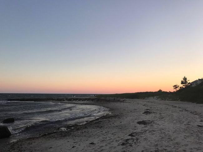 Sunset Scenics Tranquil Scene Nature Beach Sand Beauty In Nature Tranquility Water Sea Clear Sky Outdoors No People Horizon Over Water Sky Landscape Day