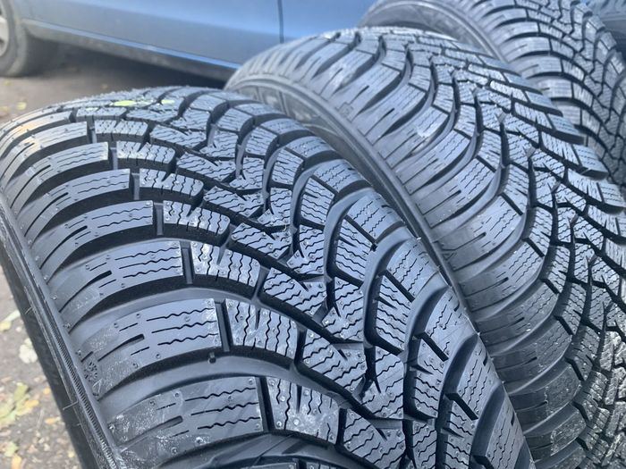 High angle view of tire in car