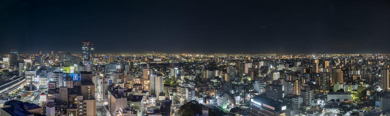 Panorama of nagoya city at night