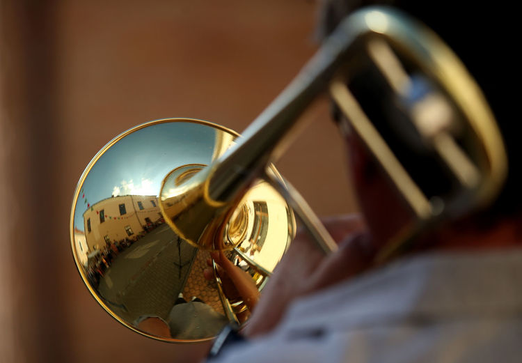 Kedainiai Old Town Lithuania Arts Culture And Entertainment Brass Brass Instrument  Classical Music Festival Focus On Foreground Gold Colored Metal Music Musical Equipment Musical Instrument Musician Playing Selective Focus Sheet Music Trumpet Wind Instrument