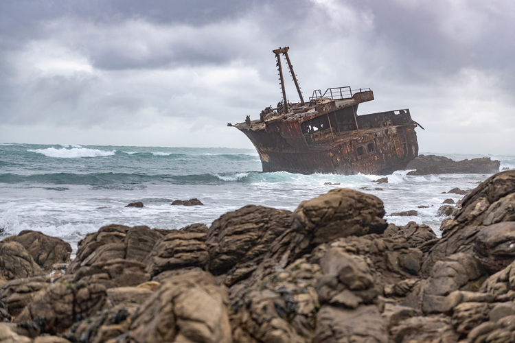 Lostplaces South Africa Africa Kap Alguhas Travel Destinations Travel Traveling Lost UnderSea Nautical Vessel Crash Sea Wave Beach Water Storm Cloud Wreck Shipwreck Traffic Accident Rotting Rotten Scrap Metal Sinking Ruined Sunken Demolished