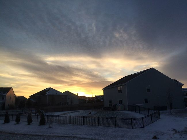 Sunset Built Structure Architecture Building Exterior Sky Nature No People Snow Winter first eyeem photo
