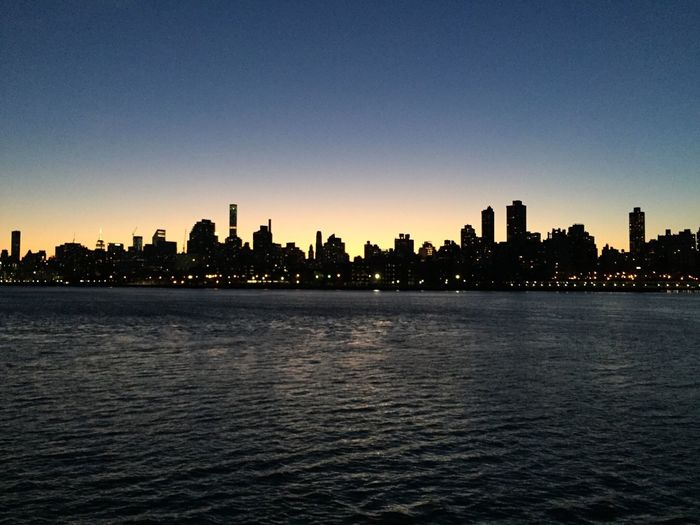 Out for a run in Queens- not a bad view at all! Night Lights Cityscapes Manhattan Skyline