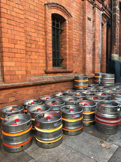 Beer Barrels Beer Brewerylife Built Structure Architecture Building Exterior No People Stack Day Wall - Building Feature Container Large Group Of Objects Barrel
