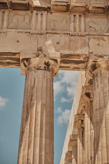 Ruin Marble Porch Structure Athens Past Journey Europe Temple Amphitheater Travel Goddess Civilization History Famous Building Entertainment Destinations Capital Monument Vacations Cultural Traditional Old Theater Greece Landmark Façade Architecture Column Archeology Nobody Ancient Outdoor Classical Greek Attica Sky Stage Museum Parthenon Acropolis Tourist Caryatid Antique Mythology Place Culture