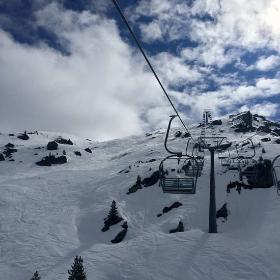 Adventure Beauty In Nature Cable Cloud - Sky Cold Temperature Day Mountain Nature No People Outdoors Overhead Cable Car Scenics Ski Lift Sky Snow Tranquil Scene Tranquility Weather Winter Shades Of Winter