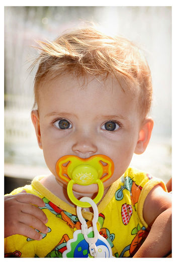 Paint The Town Yellow Baby Babyhood Blond Hair Childhood Daughter Innocence Outdoors