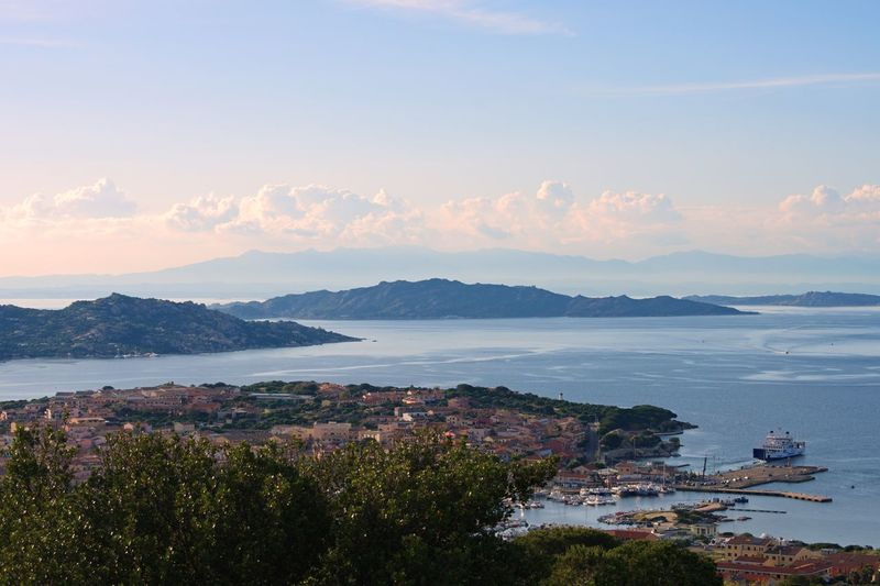 Palau Italy Sardegna Sardinia EyeEm Selects Sky Water Sea City Architecture Building Exterior Scenics - Nature Mountain Cloud - Sky Beauty In Nature Nature Travel Destinations No People High Angle View Beach Outdoors Cityscape