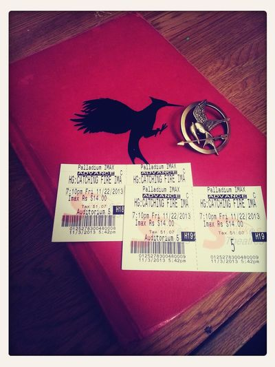 finally got my Catching Fire Tickets :D Check This Out Catching Fire