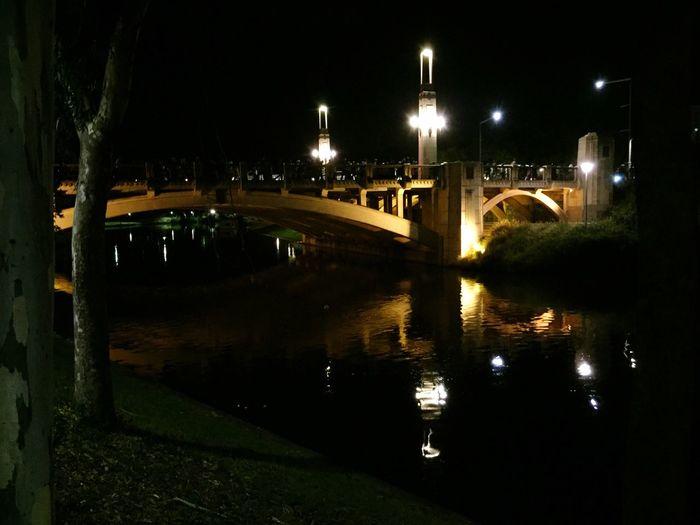Adelaide, South Australia River Torrens Reflections Bridge