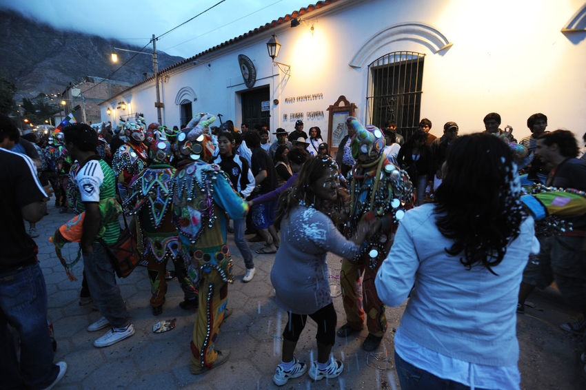 Andes Dancing Music Adult Architecture Argentina Building Exterior Built Structure City Crowd Full Length Large Group Of People Men Night Outdoors People Real People Sky Tilcara Walking Women