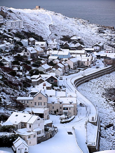 Sennen Cove Snow Cornwall