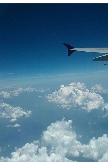 My Year My View On my way to my honeymoon one of the perfect moment in my life Airplane Flying Sky Blue Cloud - Sky Transportation No People Journey Aerial View Aircraft Wing Outdoors Nature Day Airplane Wing