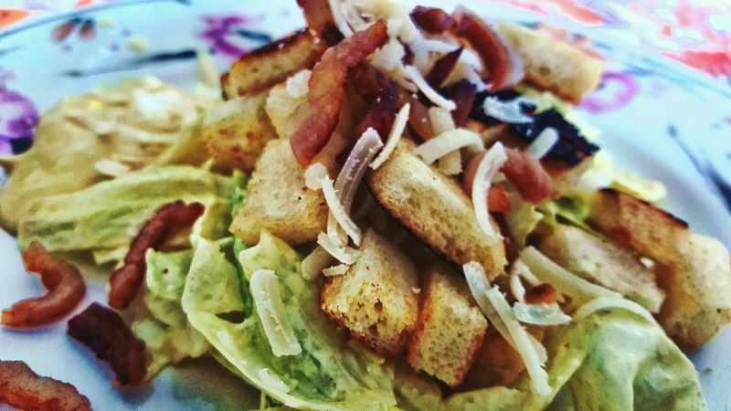 Cooking Recipe Cesar Salad Kitchen Art Food Foodphotography Picture Hdr Edit Photo Image EyeEm Gallery Getty Images Photography Phtographer Close-up Closeupshot Taking Photo American Food American Style USA