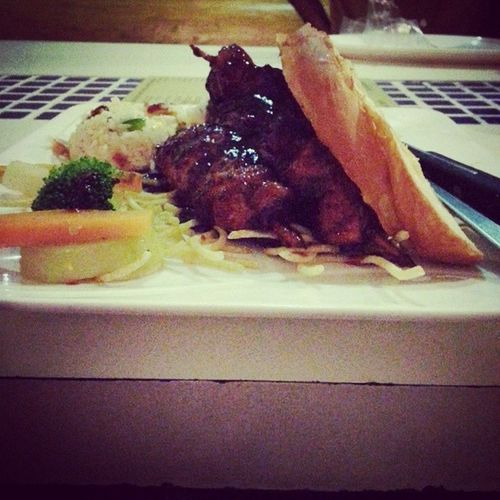 Lamb steak with BBQ sauce. Iceandspicy Yummy Gastronomy Livetoeat blore
