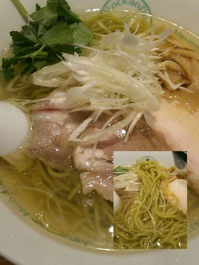 Tokyo Ikebukuro Ikebukuro Lunch Time! Enjoying A Meal Enjoy A Meal Food Porn Foodporn ラーメン My World Of Food麺屋 六感堂(ºωº)ミドリムシ配合の塩グリーン麺 Euglena compounding 変わったお味でした チャーシューが3枚有りますが何かそれぞれ違う…(。・о・。)