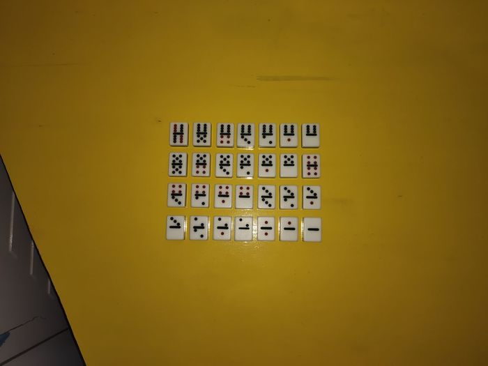 High angle view of yellow wall by building