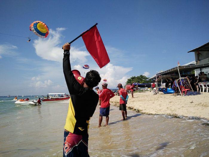 Shore Watersports Parasailing Tanjungbenoa Nusadua Bali, Indonesia
