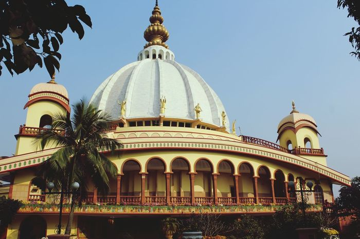ISCKON_Temple Mayapur Dome Architecture Travel Destinations Religion Building Exterior Built_Structure Outdoors Day Clear Sky No People Sky City Tree Let's Go. Together.