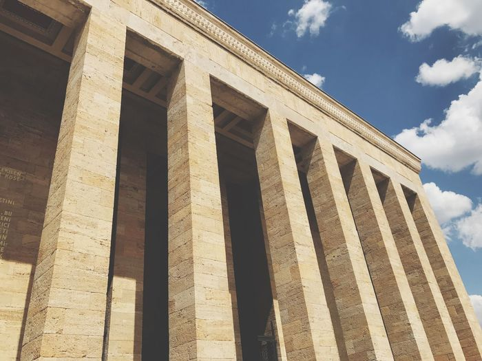 Built Structure Sky Architecture Cloud - Sky Building Monument Monumental  Anıtkabir Ankara
