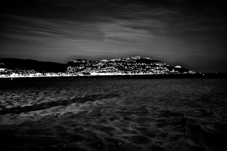 Waterfront Night Illuminated First Eyeem Photo Catalunya Catalonia Cataluña Catalunya Independent Roses. Costa Brava. Spain Roses, Spain Black And White Black & White Black And White Photography Black And White Collection  Black&white