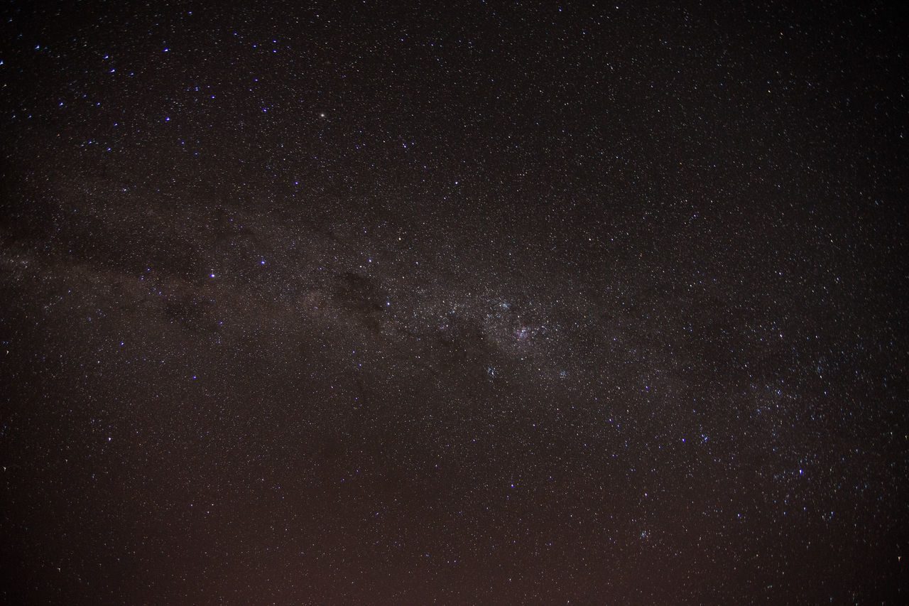 View of starry sky