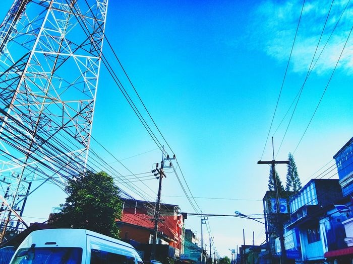 Sky Low Angle View Blue Architecture No People Day Built Structure Outdoors Clear Sky Building Exterior City EyeEmNewHere